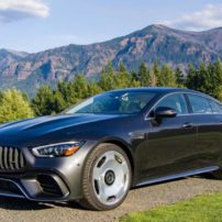 A category and overall winner at Run to the Sun, the 2019 Mercedes-AMG GT 63 S Four Door offers a sleek design, a 630 HP engine, as well as plentiful tech features.